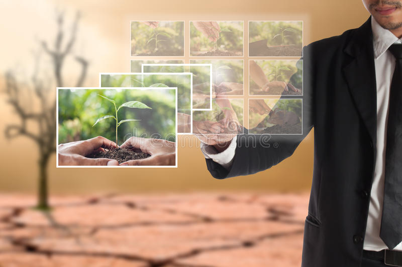 Business concept of CSR or Corporate Social Responsibility royalty free stock photography