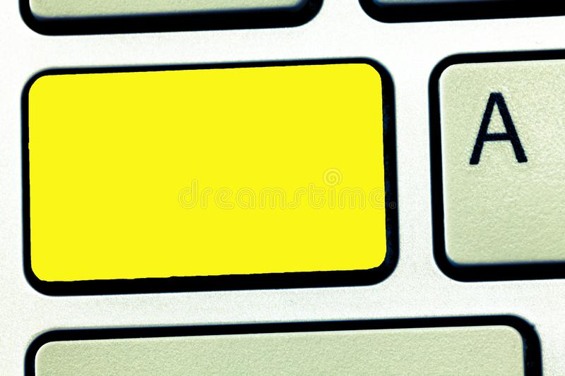 Business concept Empty template copy space  Posters coupons promotional material Keyboard key Intention to. Business concept Empty template copy space  Posters stock photography