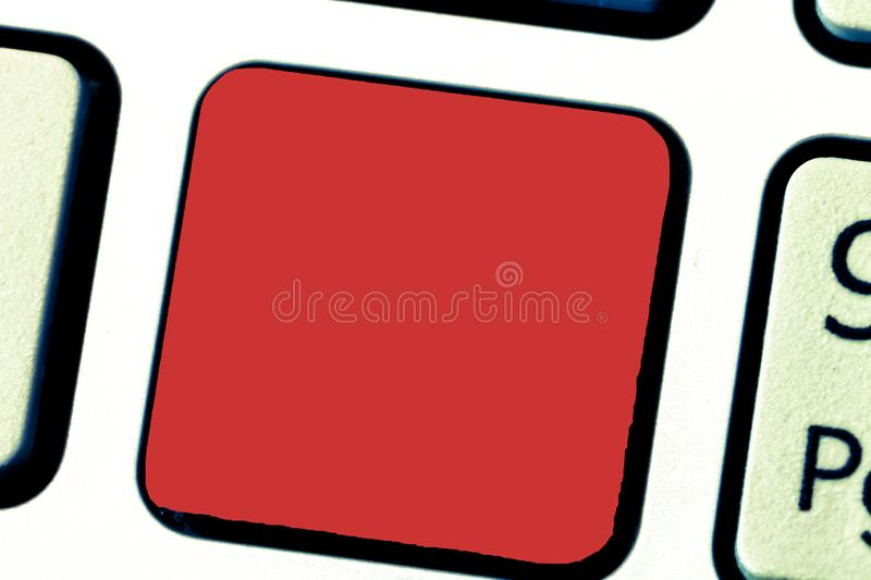 Business concept Empty template copy space  Posters coupons promotional material Keyboard key Intention to. Business concept Empty template copy space  Posters stock image