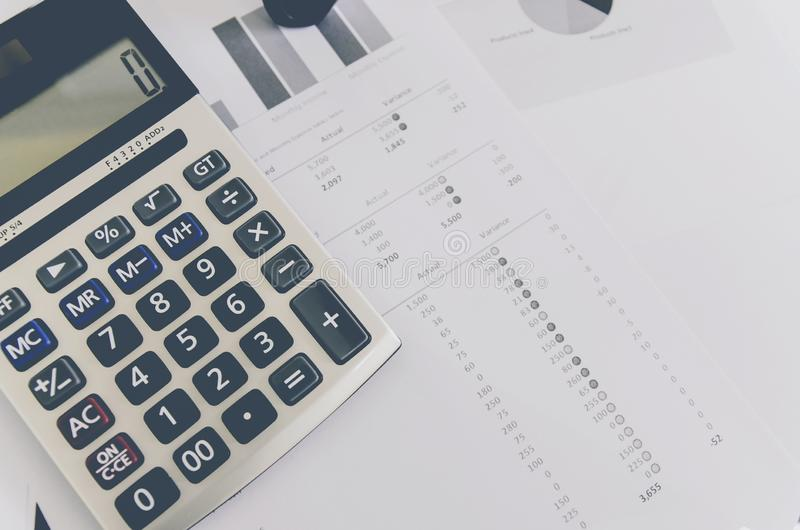 Business concept of financial and accounting with paper sheet of planning data. Show the business concept of financial and accounting, Finance report and stock images