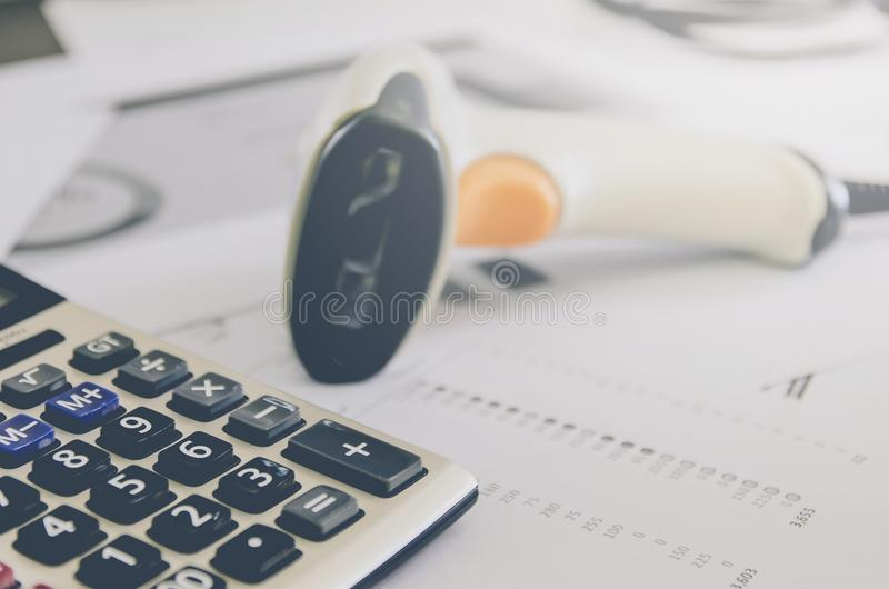 Business concept of financial and accounting with paper sheet of planning data. Show the business concept of financial and accounting, Finance report and royalty free stock photos