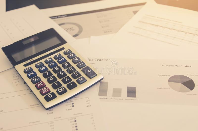 Business concept of financial and accounting with paper sheet of planning data. Show the business concept of financial and accounting, Finance report and stock photography
