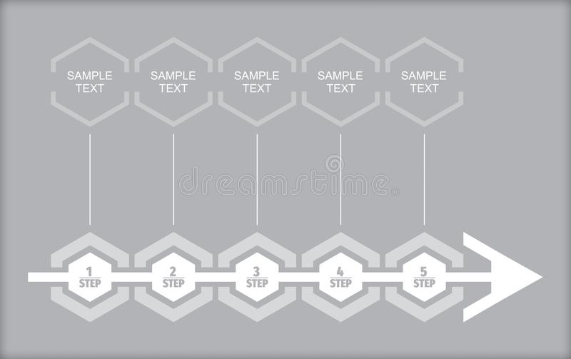 Business flow concept. Business concept - flow chart with copy paste text royalty free illustration