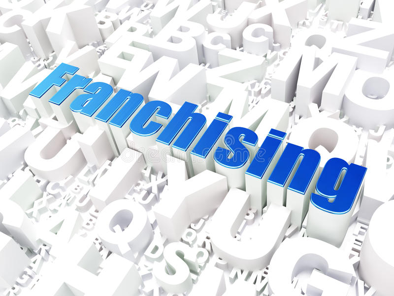 Business Concept: Franchising On Alphabet Royalty Free Stock Photography