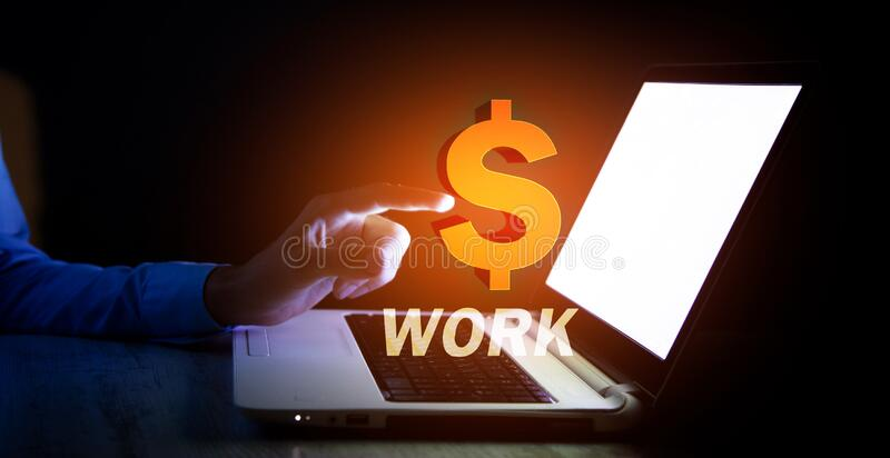 Business concept. global internet work stock images