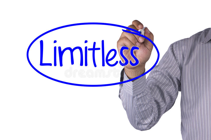 Business concept handwriting marker and write Limitless Preparate royalty free stock image