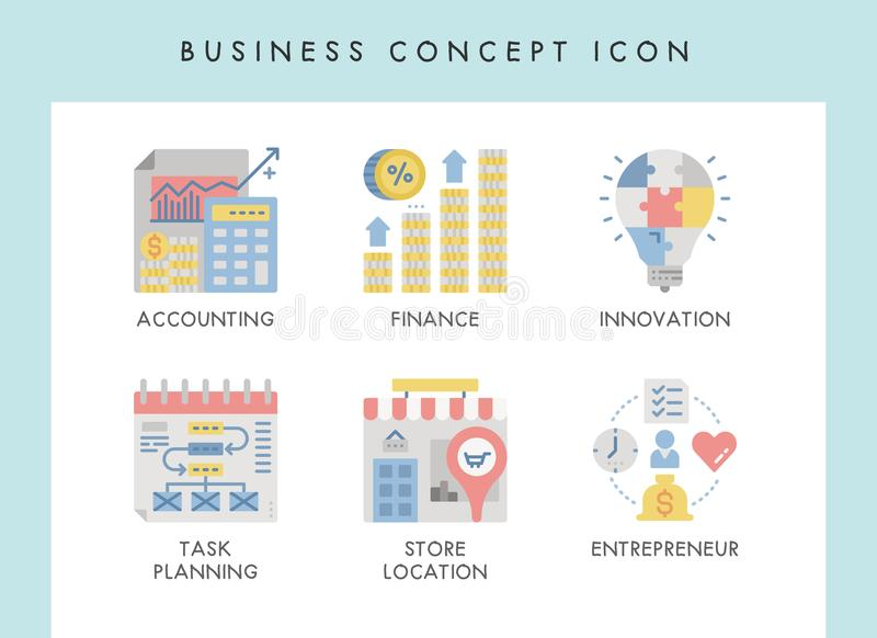 Business concept icons. Business concept illustration icons for website, web, blog, presentation, etc royalty free illustration