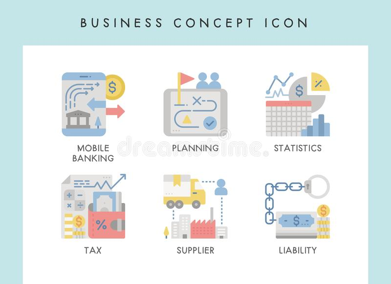 Business concept icons. Business concept illustration icons for website, web, blog, presentation, etc stock illustration