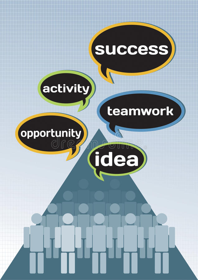 Business concept for idea, opportunity, teamwork, activity. Success vector illustration