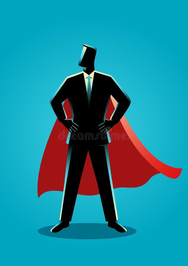 Businessman as a superhero stock illustration