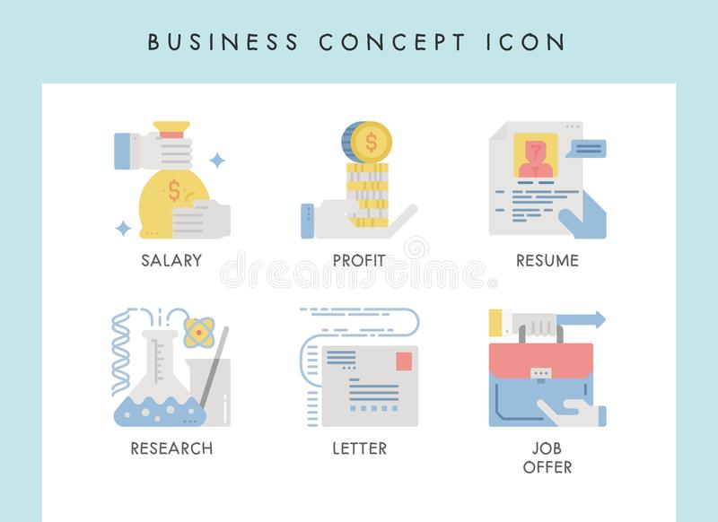 Business concept icons. Business concept illustration icons for website, web, blog, presentation, etc vector illustration