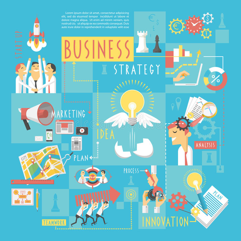 Business concept infographic elements poster royalty free illustration