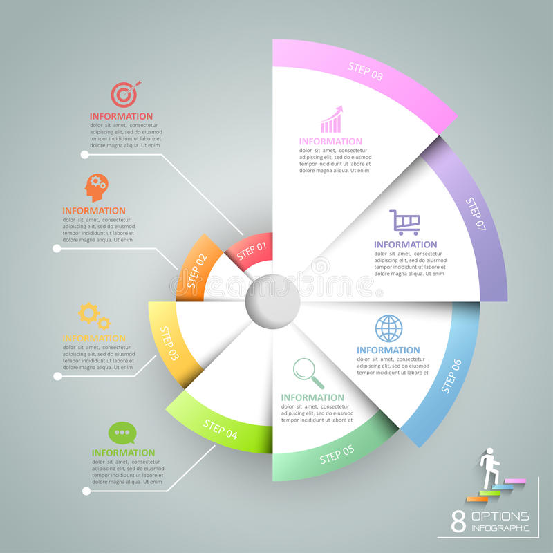 Business concept infographic template can be used for workflow layout, diagram. Number options, timeline or milestones project vector illustration