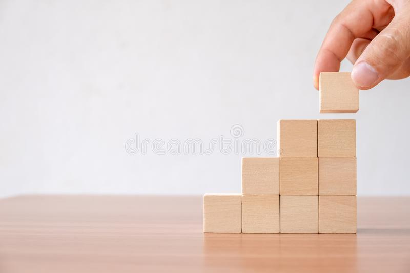Business concept of ladder career path and growth success process. royalty free stock photos