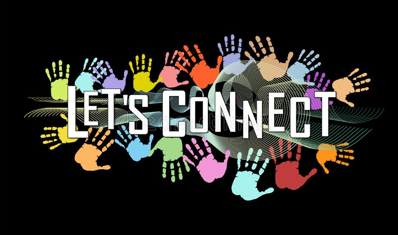 Business concept, let`s connect. Business contacts, teamwork, networking, vector royalty free stock photos