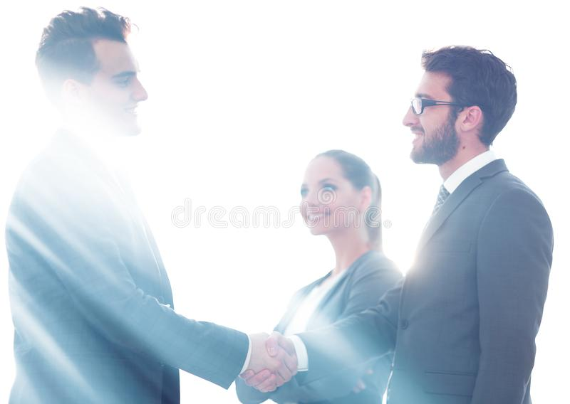 Concept of partnership. handshake business partners. royalty free stock photography