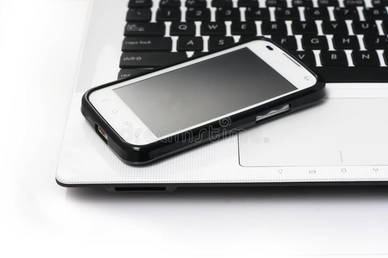 Download Notebook And Smartphone Stock Image - Image: 30093181