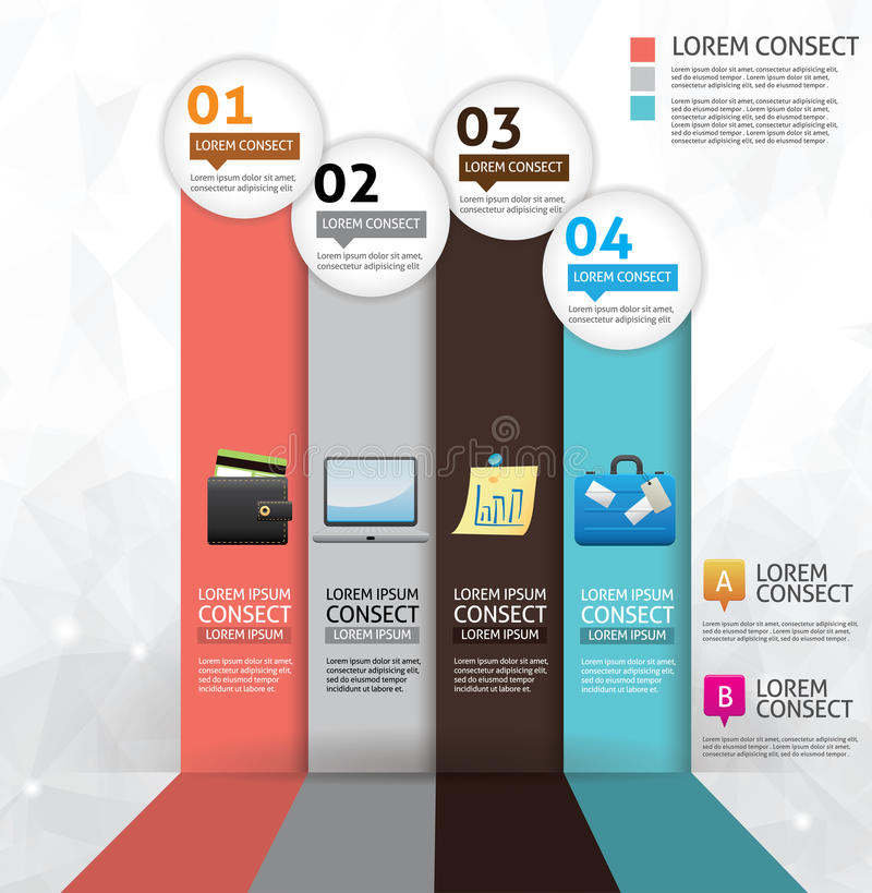 Business concept option infographics royalty free illustration