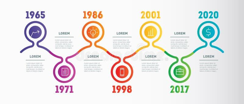 Horizontal Infographic Timeline Or Company Milestones
