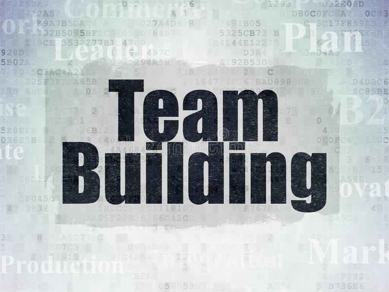 Business concept: Team Building on Digital Data Paper background. Business concept: Painted black text Team Building on Digital Data Paper background with Tag royalty free stock photography