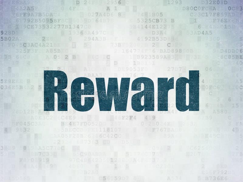 Business concept: Reward on Digital Data Paper background stock photos