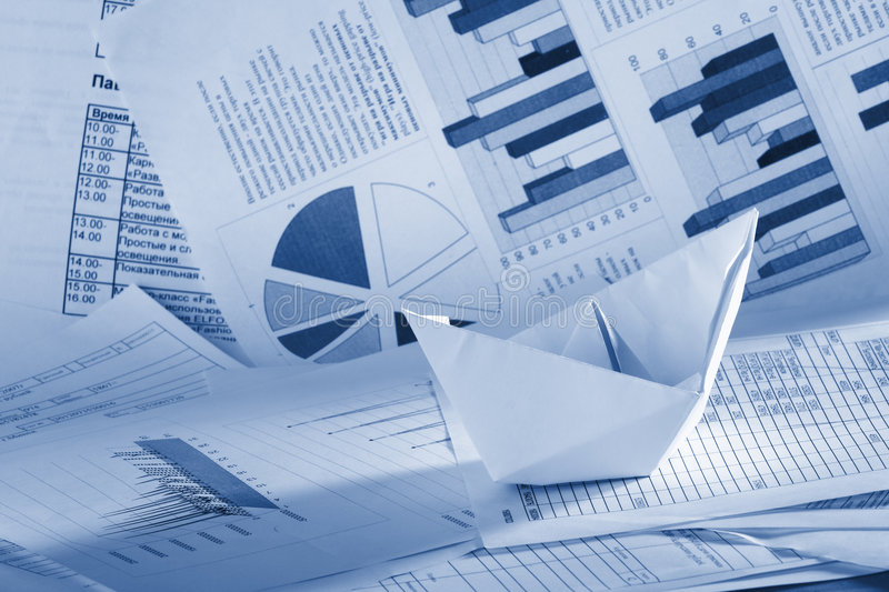 Download Business Concept, Paper Boat And Documents Stock Image - Image: 5739009