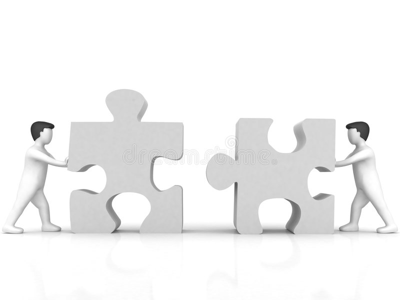 Download Business Concept Of People With Puzzle Stock Illustration - Image: 8773895