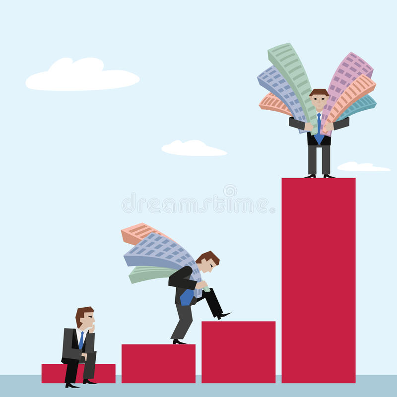 Business concept the real estate market with chart stock illustration