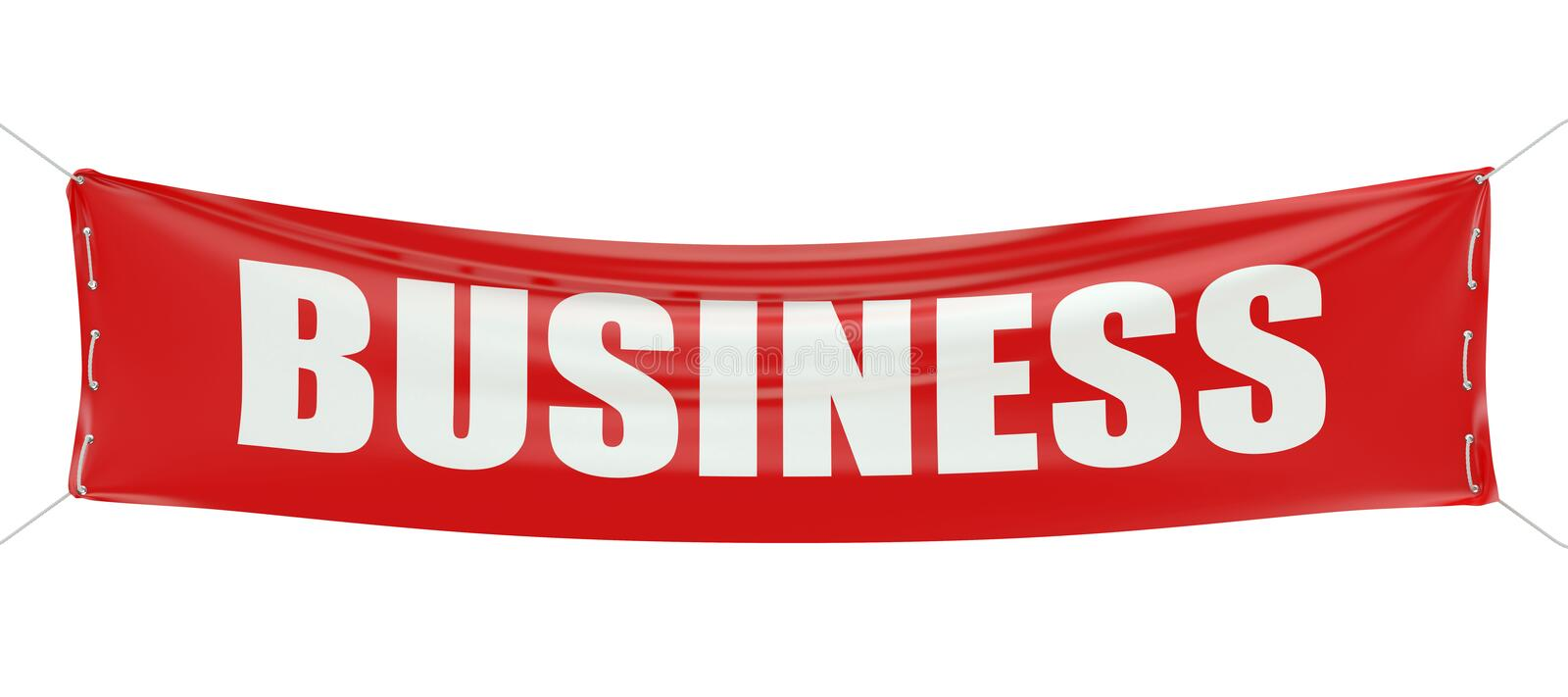 Business concept on the red banner 3D royalty free illustration
