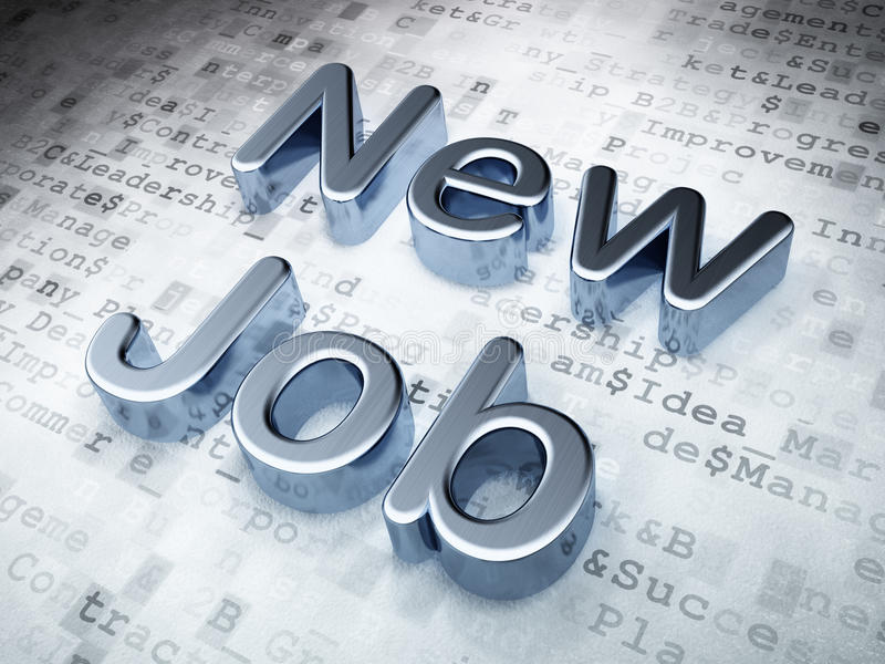 Download Business Concept: Silver New Job On Digital Royalty Free Stock Image - Image: 38288276
