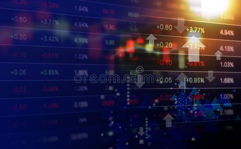 Business concept of stock market background design stock photo