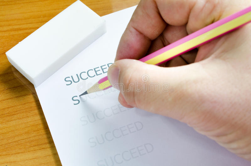 Business concept. Succeed word royalty free stock photography