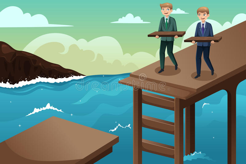 Business concept of teamwork royalty free illustration