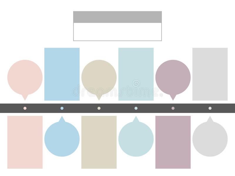 Business concept timeline. Infograph template. stock illustration