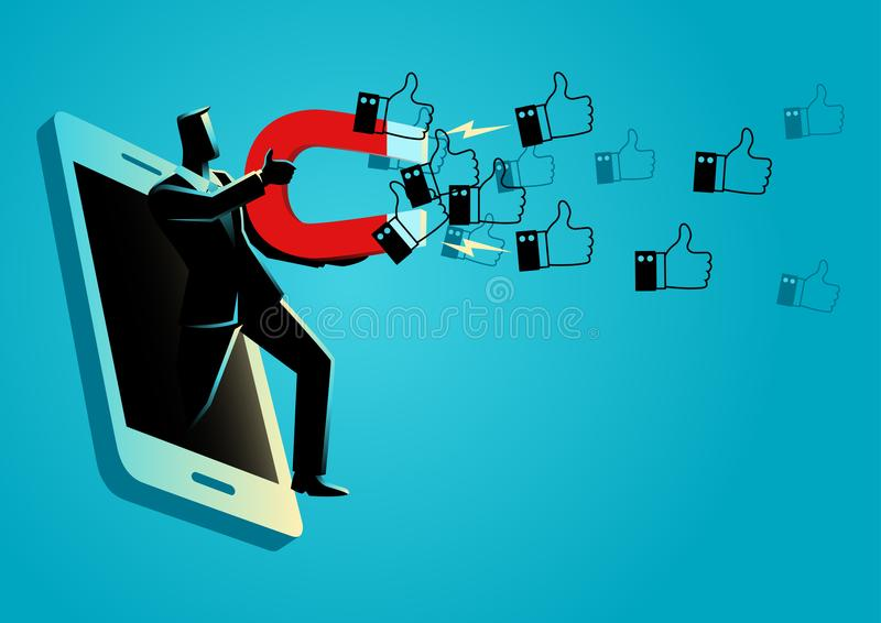 Getting more Likes royalty free illustration