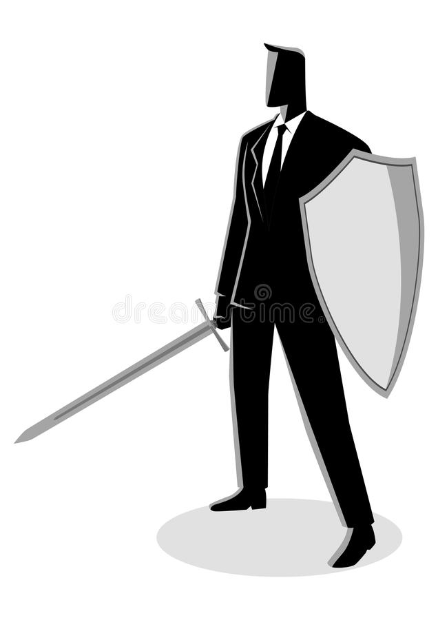Ready To Fight stock illustration