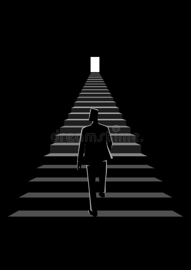 Stairway To Success stock illustration