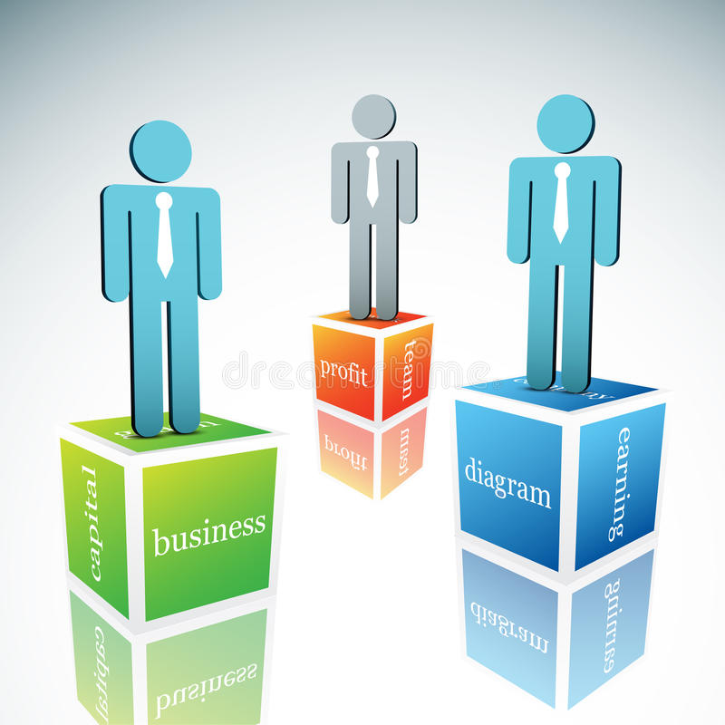 Business concept. Vector illustration of business people royalty free illustration