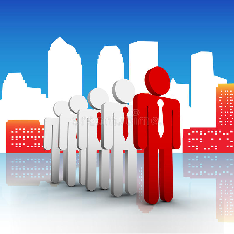 Business concept. Vector illustration of business people in the city. EPS10 file. Contains blending mode vector illustration