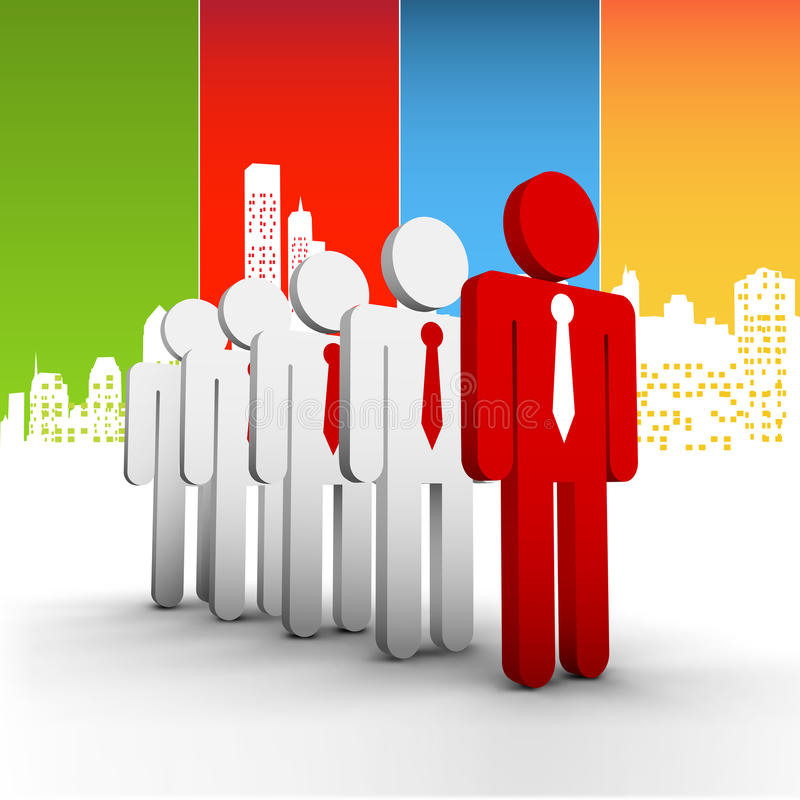 Business concept. Vector illustration of business people in the city. EPS10 file. Contains blending mode stock illustration