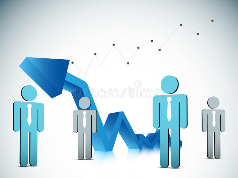 Business concept. Vector illustration of business people. EPS10 file. Contains blending mode royalty free illustration