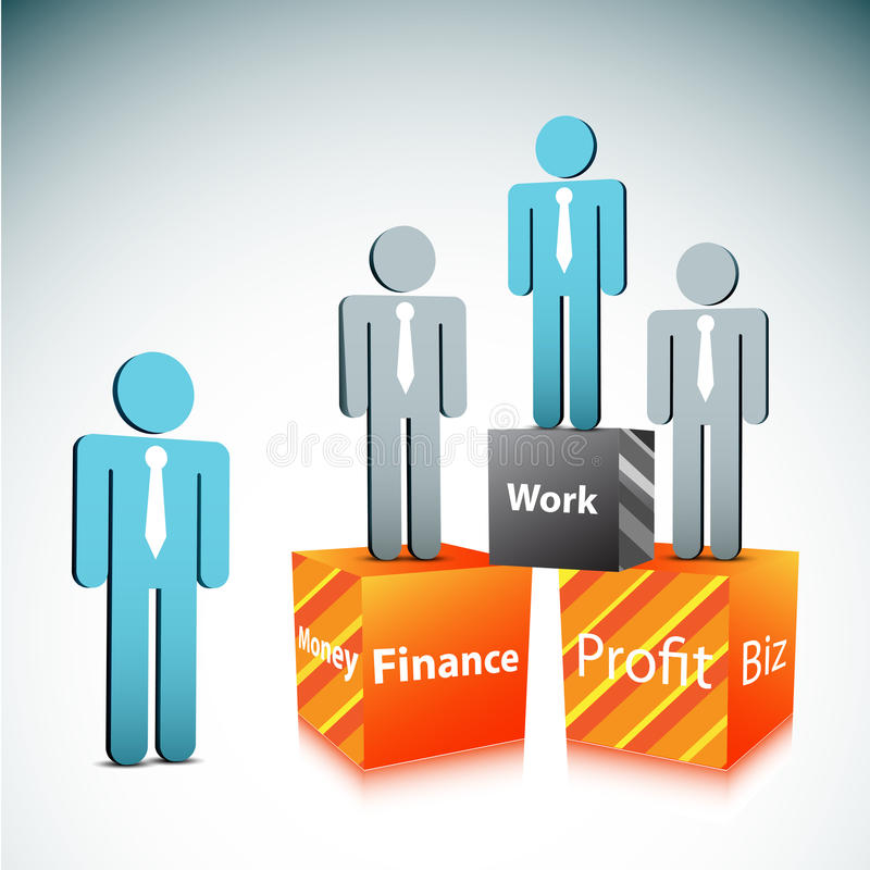 Business concept. Vector illustration of business people. EPS10 file. Contains blending mode stock illustration