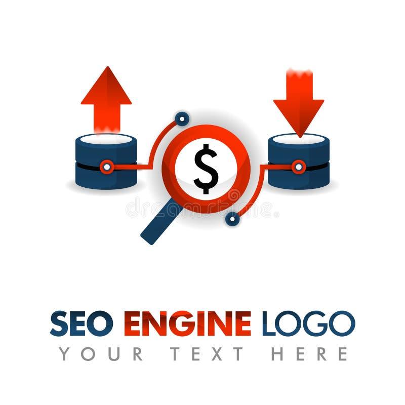 Business concept of vector illustration. SEO logo, marketing strategy, online promotion, internet ad, advertising, business promot. Ion, data communication stock illustration