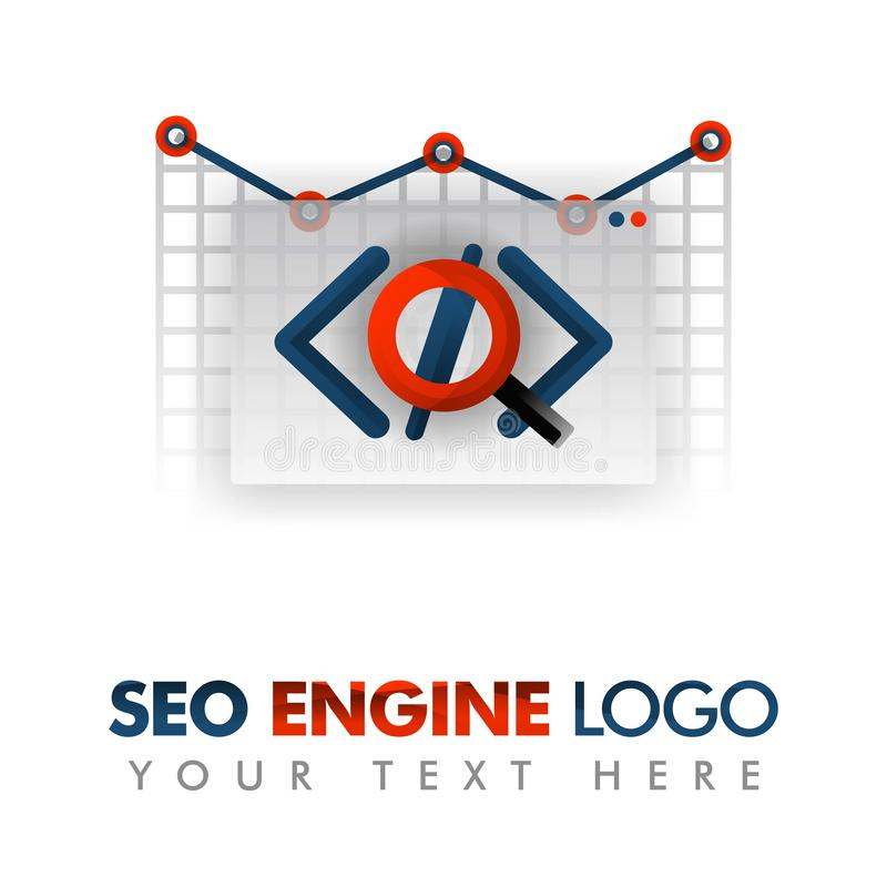 Business concept of vector illustration. SEO logo, marketing strategy, online promotion, internet ad, advertising, business promot. Ion, coding program, trending vector illustration