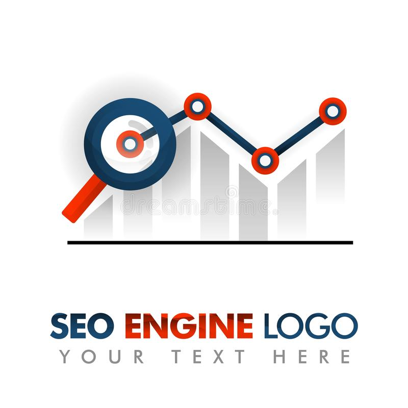 Business concept of vector illustration. SEO logo, marketing strategy, online promotion, internet ads, advertising, abstract chart. Background, business vector illustration