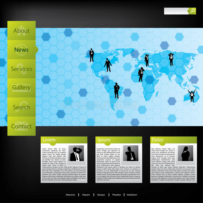 Business Concept Web Template Stock Photography