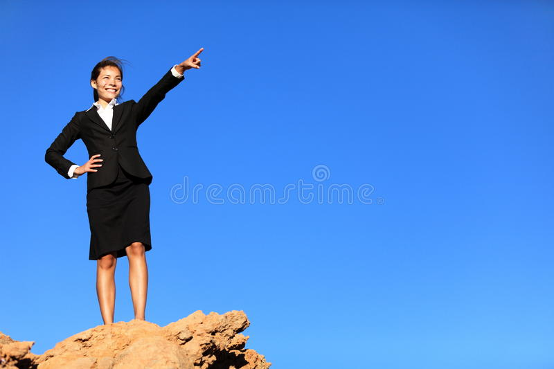 Download Business Concept - Woman Pointing At Future Stock Photo - Image: 22949252