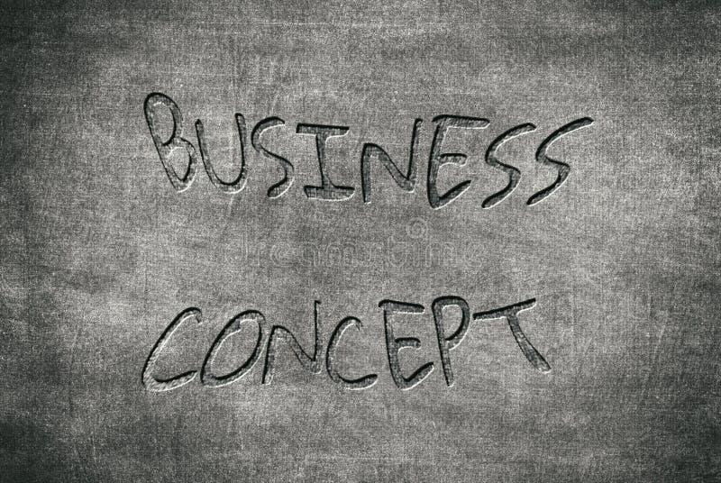 Business concept written on a blackboard stock illustration