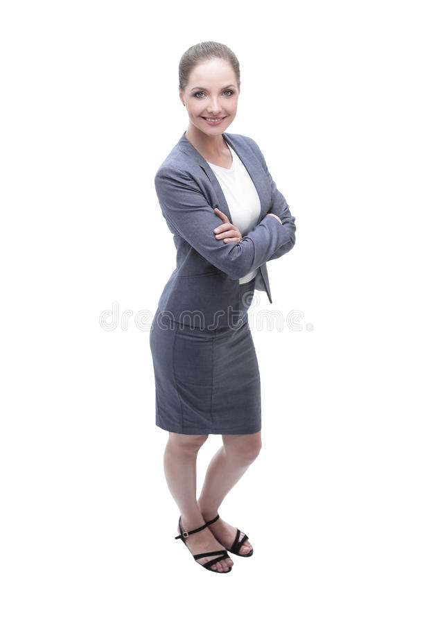 Portrait of a young Bank employee stock image