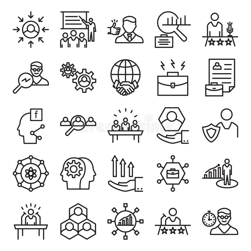 Business Concepts Line Vector Isolated Icon can be easily Modified and edit stock illustration